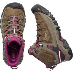Keen Targhee III Mid WP Shoes Women weiss/boysenberry